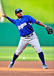 23 April 2010: Los Angeles Dodgers' third baseman Ronnie Belliard warms up prior to a game against the Washington Nationals at Nationals Park in Washington, DC. The Nationals defeated the Dodgers 5-1 in the first game of their 3-game series. Mandatory Credit: Ed Wolfstein Photo