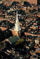 Aerial view, Old North Church, Boston, MA (wm Price, architect, 1723)