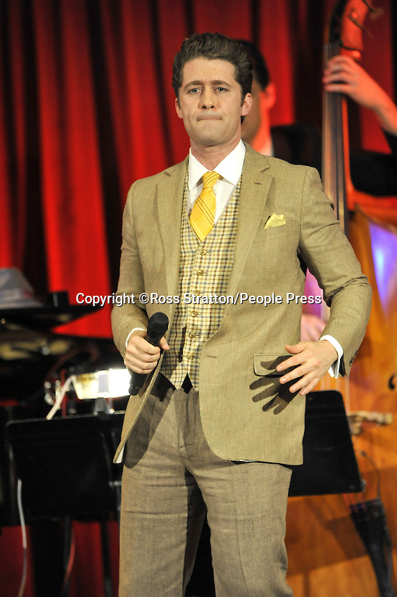 Star of Hit US TV Series 'Glee', Matthew Morrison plays a gig at Bush Hall, London - June 20th 2013<br />