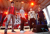 Big Time Rush (Carlos Pena, James Maslow, Kendall Schmidt, Logan Henderson) perform during the Just the Tip Tour 2011 at the West Virginia State Fair in Lewisburg, West Virginia on Sunday August 14, 2011. (Jared Wickerham/GETTY IMAGES FOR NICKELODEON)