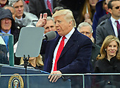 Donald J. Trump delivers his Inaugural Address after being sworn-in as the 45th President of the United States on the West Front of the US Capitol on Friday, January 20, 2017.<br /> Credit: Ron Sachs / CNP<br /> (RESTRICTION: NO New York or New Jersey Newspapers or newspapers within a 75 mile radius of New York City)