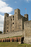 Rochester Castle Kent UK. Was built by Bishop Gundulf who was also responsible for the construction of neighbouring Rochester Castle. Both the cathedral and castle appear in Charles Dickens novels The Mystery of Edwin Drood, and The Pickwick Papers.