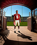 FSU quarterback Jameis Winston in the tunnel during the 2013 Florida State Football Media Day in Doak S. Campbell Stadium in Tallahassee, Florida.