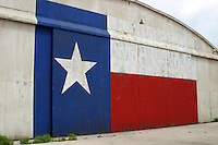 Texas Lone Star Flag on Airport Hanger in Austin, Texas, USA No. 1