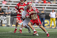 Towson, MD - March 25, 2017: Denver Pioneers Connor Cannizzaro (40) in action during game between Towson and Denver at  Minnegan Field at Johnny Unitas Stadium  in Towson, MD. March 25, 2017.  (Photo by Elliott Brown/Media Images International)