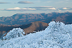 Mount Mitchell and the Black Mountains in winter, as viewed from Big Bald, Pisgah National Forest
