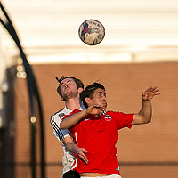 Revere, Massachusetts - May 17, 2017:  In 2017 U.S. Open Cup second round match, GPS Omens (white) defeated Boston City FC (red/white), 2-1, at Harry Della Russo Stadium on John A. McCarthy Memorial Field.