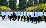 Egypt's President Abdel Fattah al-Sisi with Singaporean counterpart Tony Tan Keng Yam review a guard of honour during a welcoming ceremony at the Istana presidential palace in Singapore on August 31, 2015. President Abdel Fattah al-Sisi is on a three-day state visit at the invitation of President Tony Tan Keng Yam. Photo by Egyptian President Office