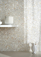 Scallops, shown in Shell is part of New Ravenna's Studio Line. All mosaics in this collection are ready to ship within 48 hours.<br />