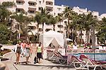 Tourists at the pool, Pueblo Bonito Rose' Resort, Cabo San Lucas, Baja California, Mexico