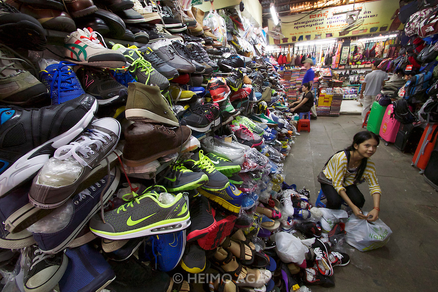 Phnom Penh, Cambodia. Russian Market, famous for clothes and shoes.