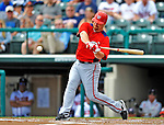 6 March 2012: Washington Nationals infielder Chad Tracy in action during a Spring Training game against the Atlanta Braves at Champion Park in Disney's Wide World of Sports Complex, Orlando, Florida. The Nationals defeated the Braves 5-2 in Grapefruit League action. Mandatory Credit: Ed Wolfstein Photo