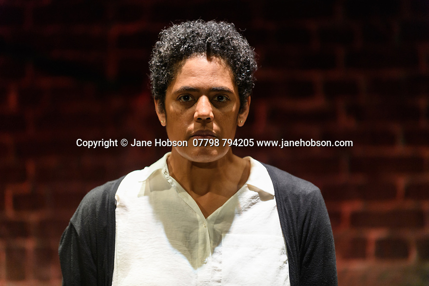 """A brand new adaptation of Albert Camus' """"The Plague"""" opens at the Arcola Theatre. Adapted and directed by Neil Bartlett. Picture shows: Sara Powell (Dr Rieux)"""