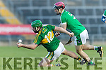Mikey Boyle Kerry in action against Lorcan Lyons Limerick in the Munster Hurling League Round 4 at the Gaelic Grounds, Limerick on Sunday.