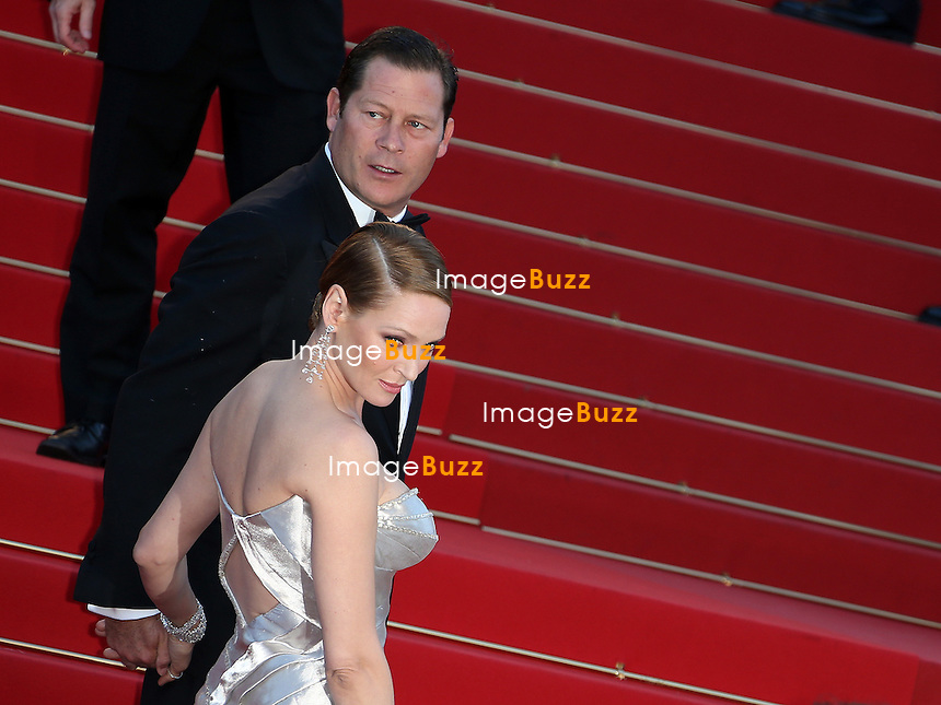 Uma Thurman attends the 'Zulu' Premiere and Closing Ceremony during the 66th Annual Cannes Film Festival at the Palais des Festivals on May 26, 2013 in Cannes, France.