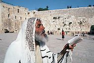 Jerusalem, Israel, November, 1980. The Wailing Wall.