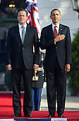 United States President Barack Obama welcomes Prime Minister David Cameron of Great Britain and his wife, Samantha, to the White House in Washington, D.C. on Wednesday, March 14, 2012..Credit: Ron Sachs / CNP