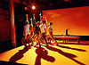 Pink Mist <br /> by Owen Sheers<br /> at Bush Theatre, London, Great Britain <br /> 26th January 2016 <br /> press photocall<br /> Rebecca Killick as Lisa<br /> Alex Stedman as Hads<br /> Zara Ramm as Sarah <br /> Rebecca Hamilton as Gwen <br /> Peter Edwards as Taff <br /> Phil Dunster as Arthur <br /> <br /> <br /> Photograph by Elliott Franks <br /> Image licensed to Elliott Franks Photography Services