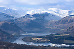 View across Ullswater in winter