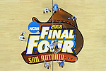 05 APR 2008: The opening tip off from the Memphis vs UCLA semi final game of the Men's Final Four Basketball Tournament held in the Alamodome in San Antonio, TX. Memphis went on to defeat UCLA 78-63 to advance the championship game. Photo: Rich Clarkson/NCAA Photos.