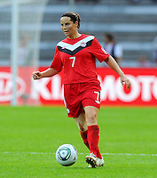 Rhian Wilkinson of Canada during the FIFA Women's World Cup at the FIFA Stadium in Berlin, Germany on June 26th, 2011.
