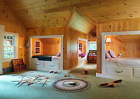 The bunk-room is a large communal bedroom for the children that sleeps six