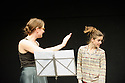 London, UK. 26.11.2015. Nora presents NORA INVITES AGGISS, BURROWS, FARGION & TANGUY, in the Lilian Baylis studio, at Sadler's Wells. The piece shows is ELEANOR AND FLORA MUSIC. The dancers are: Eleanor Sikorski and Flora Wellesley Wesley. Photograph © Jane Hobson.