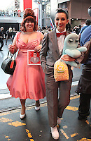 NEW YORK, NY - OCTOBER 7: 'Pee-Wee's Playhouse' cosplayers at New York Comic-Con at Jacob Javits Center  in New York, New York on October 7, 2016.  Photo Credit: Rainmaker Photo/MediaPunch
