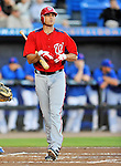 5 March 2012: Washington Nationals infielder Mark Teahen comes to the plate during a Spring Training game against the New York Mets at Digital Domain Park in Port St. Lucie, Florida. The Nationals defeated the Mets 3-1 in Grapefruit League play. Mandatory Credit: Ed Wolfstein Photo