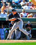 11 March 2009: New York Yankees' infielder Doug Bernier in action during a Spring Training game against the Detroit Tigers at Joker Marchant Stadium in Lakeland, Florida. The Tigers defeated the Yankees 7-4 in the Grapefruit League matchup. Mandatory Photo Credit: Ed Wolfstein Photo