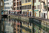 Cafe's along river, Annecy, France