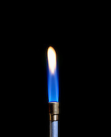 AIR INTAKE AFFECTS BUNSEN BURNER FLAME (2 of 4)<br />