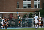 07 September 2007: Texas A&M's Kristin Arnold (0) makes a save. The University of North Carolina Tar Heels defeated the Texas A&M University Aggies 2-1 at Fetzer Field in Chapel Hill, North Carolina in an NCAA Division I Women's Soccer game, and part of the annual Nike Carolina Classic tournament.