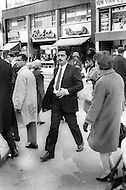 New York City. October, 1966. Paco Rabanne in NYC Streets, he is presenting his collection for the first time in NYC.