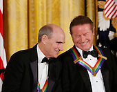 Singer James Taylor and Eagles band member Don Henley listen to United States President Barack Obama during a ceremony for 2016 Kennedy Center Honorees, in the East Room of the White House, December 4, 2016, Washington, DC. The 2016 honorees are: Argentine pianist Martha Argerich; rock band the Eagles; screen and stage actor Al Pacino; gospel and blues singer Mavis Staples; and musician James Taylor.<br /> Credit: Aude Guerrucci / Pool via CNP