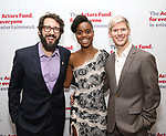Josh Groban, Denee Benton and Lucas Steele attends The Actors Fund Annual Gala at the Marriott Marquis on 5/8//2017 in New York City.