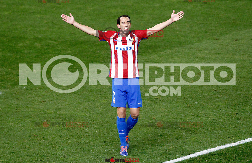 Atletico de Madrid's Diego Godin during La Liga match. November 19,2016. (ALTERPHOTOS/Acero) /NORTEPHOTO.COM