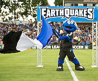 SANTA CLARA, CA - July 18, 2012: San Jose Earthquake mascot prior to the San Jose Earthquakes vs  FC Dallas match at the Buck Shaw Stadium in Santa Clara, California. Final score San Jose Earthquakes 2, FC Dallas 1.