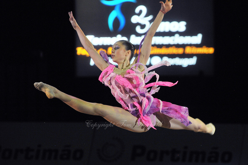 Silviya Miteva of Bulgaria performs gala exhibition at 2011 World Cup at Portimao, Portugal on May 01, 2011.  .