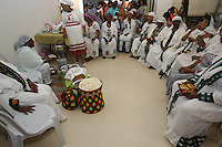 Ethiopian Jewish woman  immigrants during a traditional gathering to celebrate inauguration ceremony for a new Ethiopian Spiritual Center in Jerusalem, on June 23, 2013. The new center was funded by The International Fellowship of Christians and Jews. Photo by Oren Nahshon
