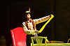 The Mad Hatter&rsquo;s Tea Party <br /> by Zoo Nation<br /> directed by Kate Prince<br /> presented by Zoo Nation, The Roundhouse &amp; The Royal Opera House<br /> at The Roundhouse, London, Great Britain <br /> rehearsal <br /> 29th December 2016 <br /> <br /> <br /> <br /> Issac Turbo Baptiste<br /> as the Mad Hatter <br /> <br /> <br /> <br /> Photograph by Elliott Franks <br /> Image licensed to Elliott Franks Photography Services