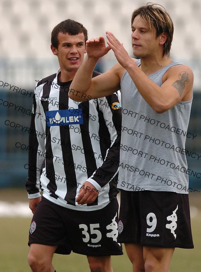 SPORT FUDBAL FOOTBALL SOCCER OFK BEOGRAD PARTIZAN BELGRADE SERBIA Radonjic 25.2.2006. foto: Pedja Milosavljevic<br />