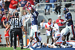 Mississippi wide receiver Ja-Mes Logan (85) celebrates a 40 yard catch down to the Auburn 1 yard line at Vaught-Hemingway Stadium in Oxford, Miss. on Saturday, October 13, 2012. (AP Photo/Oxford Eagle, Bruce Newman)..