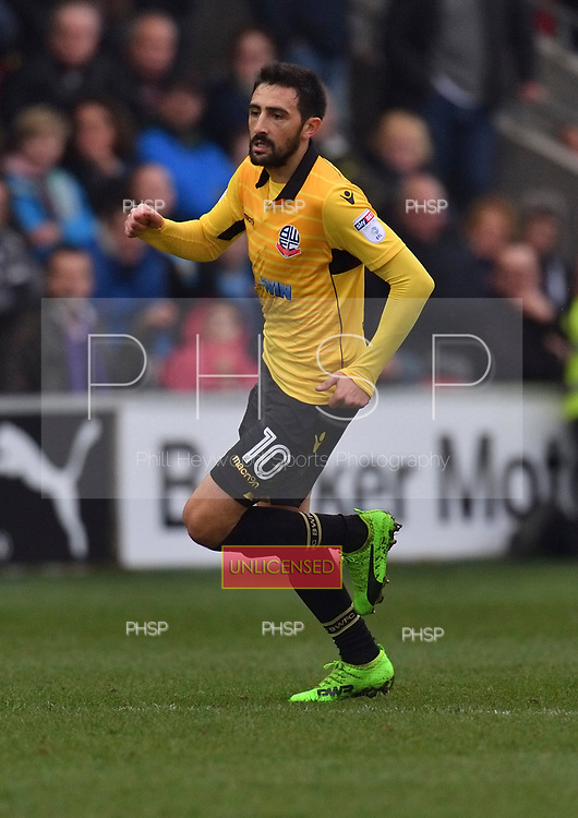 11/03/2017 Sky Bet League 1 Fleetwood Town v Bolton Wanderers<br /> <br /> Jem Karacan , Bolton Wanderers FC