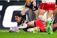 Picture by Alex Whitehead/SWpix.com - 10/03/2017 - Rugby League - Betfred Super League - Hull FC v St Helens - KCOM Stadium, Hull, England - Hull FC's Albert Kelly scores a try.