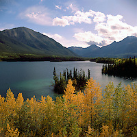 Good Hope Lake and Cassiar Mountains, along Highway 37, Northwestern British Columbia, Canada, in Autumn / Fall