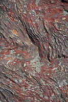 Rock Face Detail on Blue Hill Mountain, Blue Hill, Maine, US