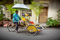The tricycle rickshaw is a cliché of Penang. Frankly, I have yet to shoot an image of one I like. I am tired of seeing photos of these up against a colored wall or next to a chinese doorway.