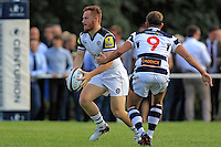 Rory Jennings of Bath Rugby in possession. Pre-season friendly match, between Yorkshire Carnegie and Bath Rugby on August 13, 2016 at Ilkley RFC in Ilkley, England. Photo by: Ian Smith / Onside Images