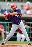 10 March 2006: Royce Clayton, infielder for the Washington Nationals, at bat during a Spring Training game against the Houston Astros. The Astros defeated the Nationals 8-6 at Osceola County Stadium, in Kissimmee, Florida...Mandatory Photo Credit: Ed Wolfstein..
